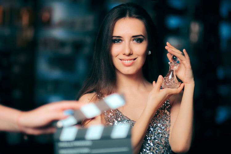 Model Acting in Perfume Commercial Ready