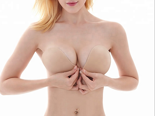 Double Padded Push Up Bra - Invisible Adhesive Stick-Ons