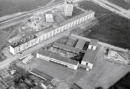 Photo aérienne de l'établissement