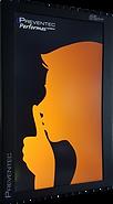 Afficheur enregistreur de son LCD orange Preventec