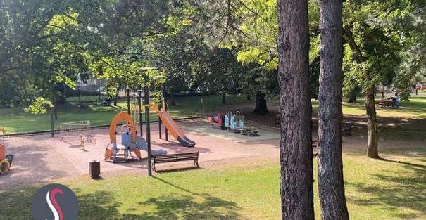 Un espace prévu pour les enfants au parc Wilson à Thionville