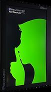 Afficheur enregistreur de son LCD vert Preventec
