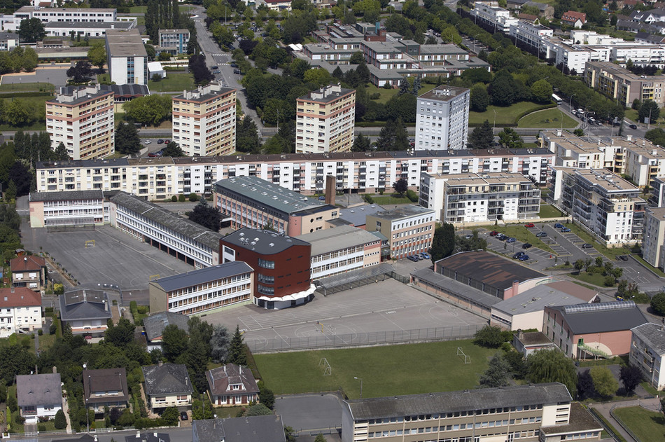 Vue aérienne de l'établissement en 2002