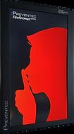 Afficheur enregistreur de son LCD rouge Preventec