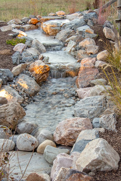 Natural rock stream - Pope Residence
