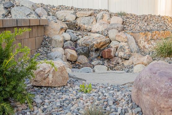 Side water feature - Utah Landscaping