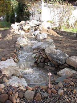Waterfall and stream