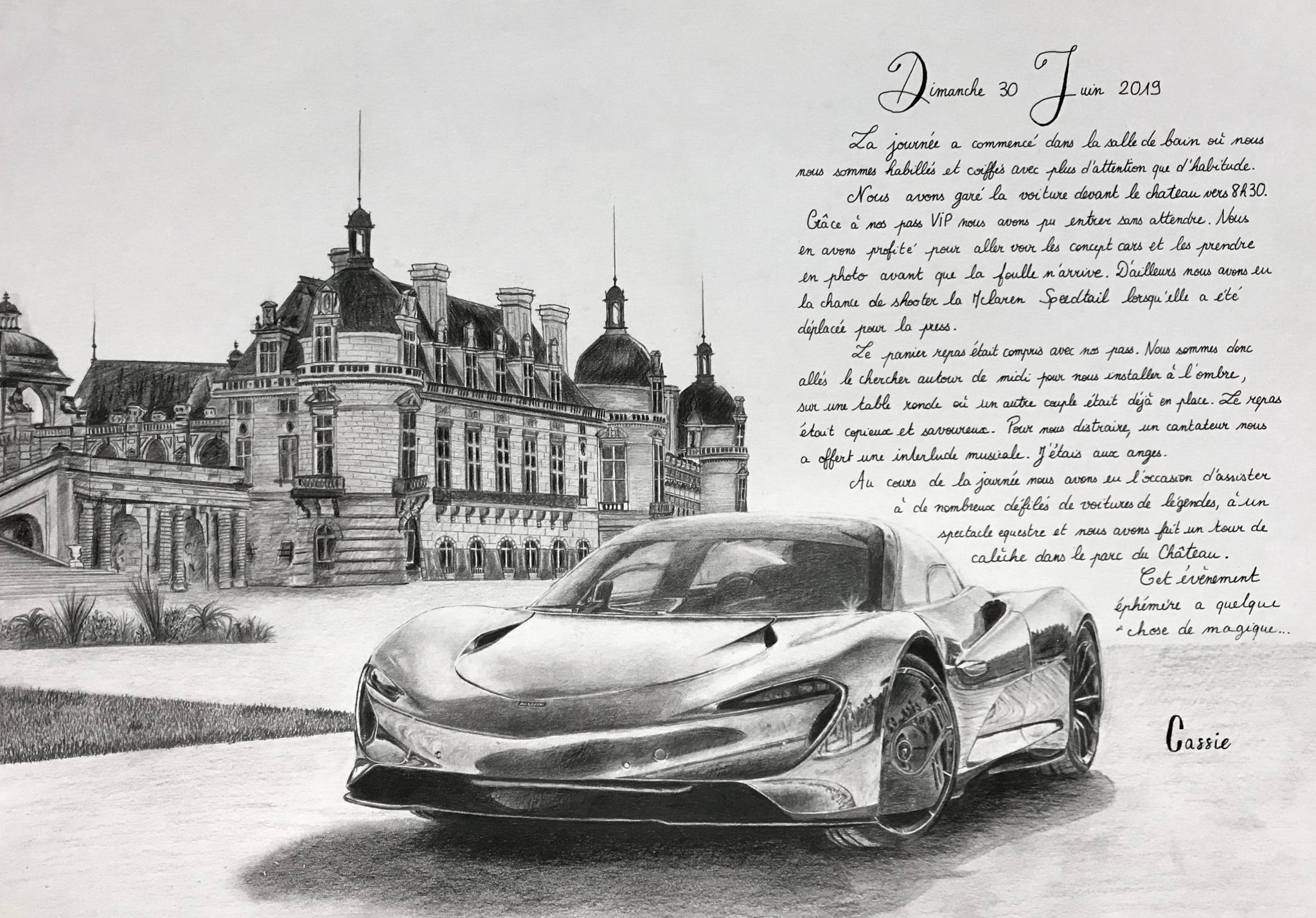 McLaren Speedtail à Chantilly
