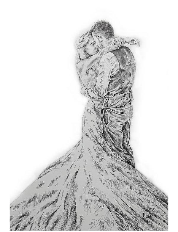 dessin de mariage