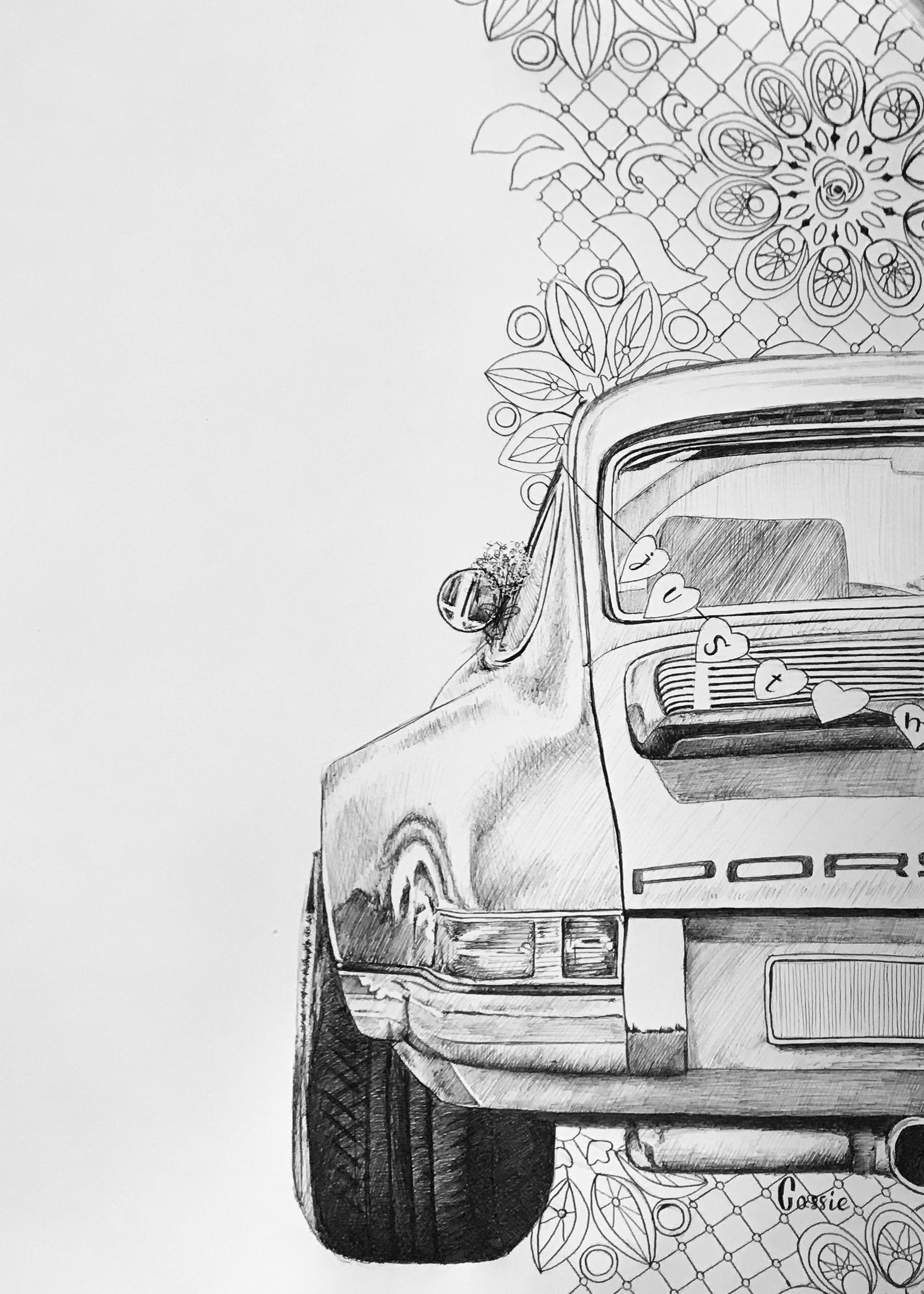 "Porsche ""just married"""