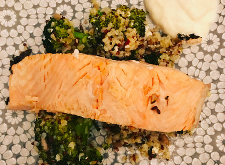 Steamed Fish Parcels with Ginger, Chard and Cauliflower Rice