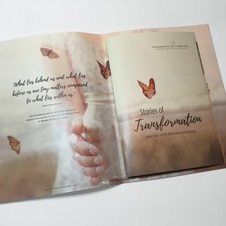 Magazine Spread with Insert