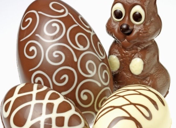 CHOCOLATE EASTER BUNNY MAKING