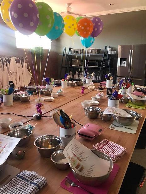 kids cooking parties