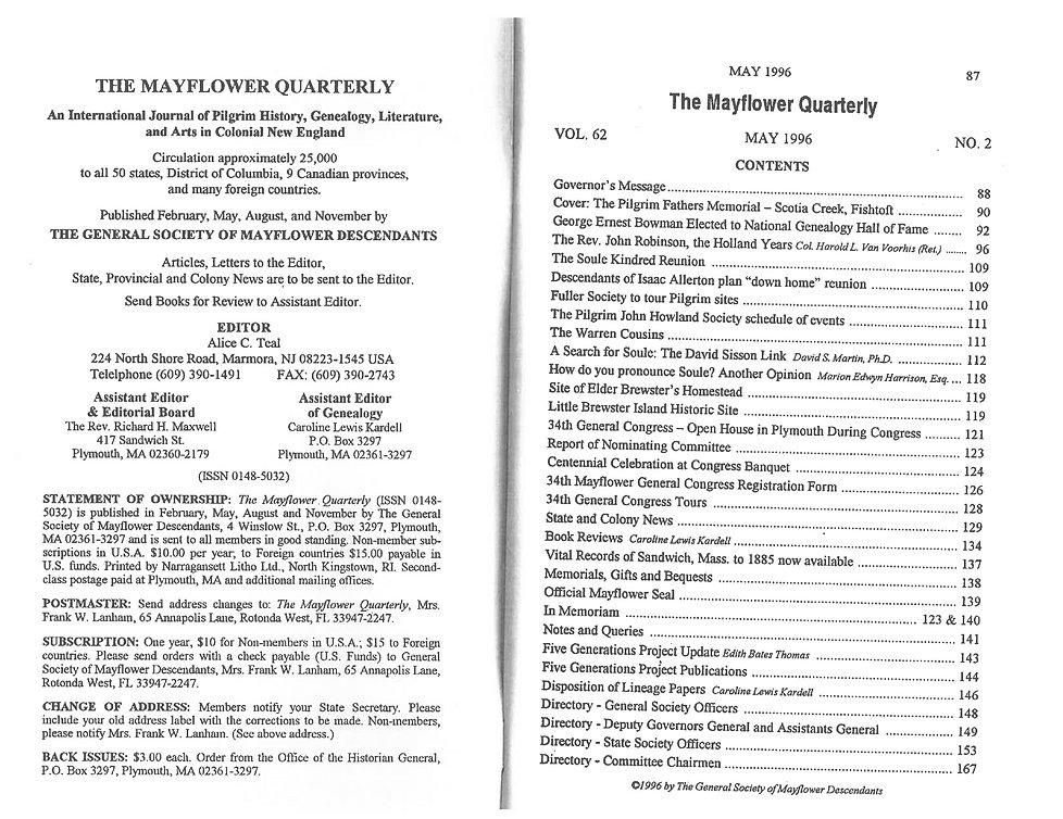 CapeCodDAR The Mayflower Quarterly Vol 6