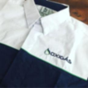 Camisa em tricoline mista de algodão e poliéster para não amassar ao longo do dia. Com recortes em duas cores com friso dividindo,pode ser bordada ou estampada e aplicada em outras partes da camisa. Produto de excelente qualidade!