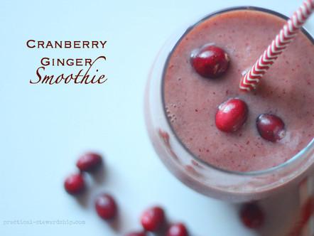 Kidney Boosting Cranberry Ginger Smoothie Recipe
