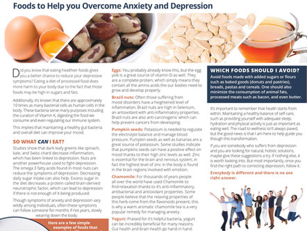 Acupuncture & Nutrition Play a Role in Decreasing Depression Symptoms