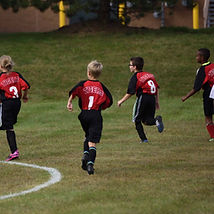 athletics soccer kids running jersies