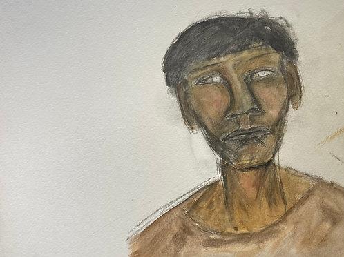 portrait of a face (unframed)