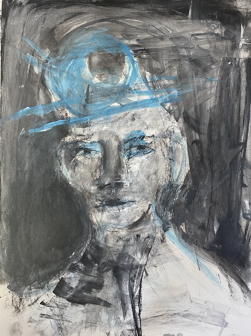 The hat (currently framed in gallery, contact me directly to buy.)