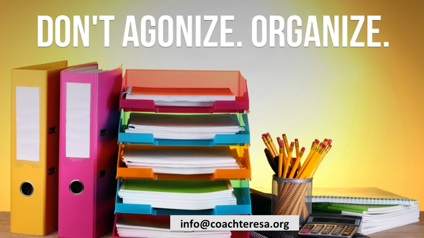 How can I get organized