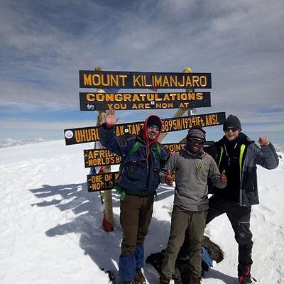 Uhuru Peak is where all those famous pho
