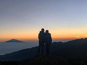 Sunset on the highest free standing moun