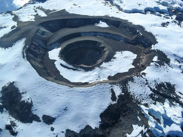 The crater of Kilimanjaro looks like an eye from that point of view