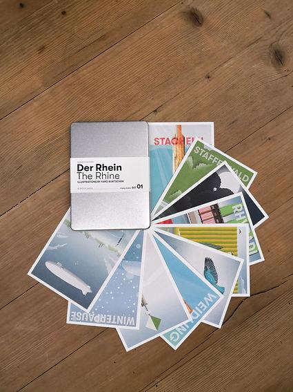 Faro Burtscher Illustrationen, derIllustrator, Schaffhausen, Postkarten-Serie
