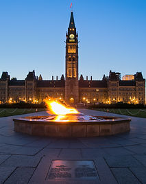 The twilight on Parliament hill, Ottawa.