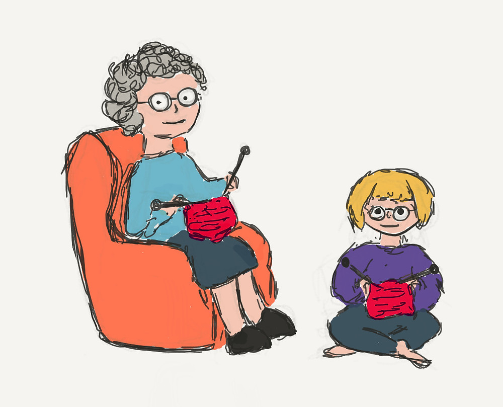 Knitting with Gran