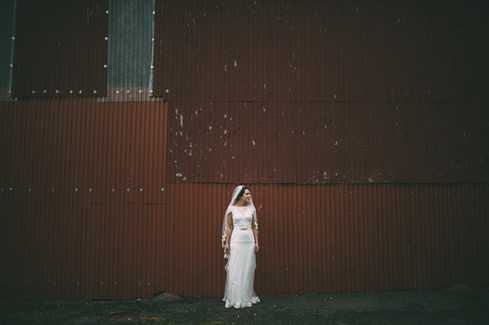 Bride and the Barn