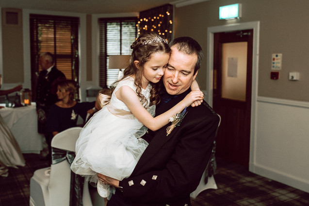 Groom and Daughter dancing