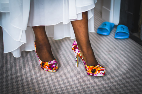 Bright wedding shoes