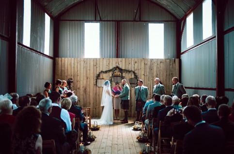 Barn Wedding Alter