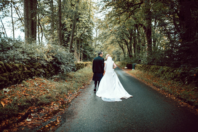 Autumn Wedding Portrait