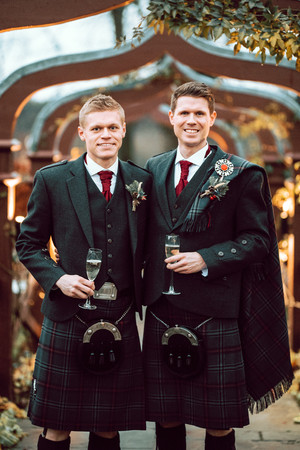 Groom and Brother in Kilts
