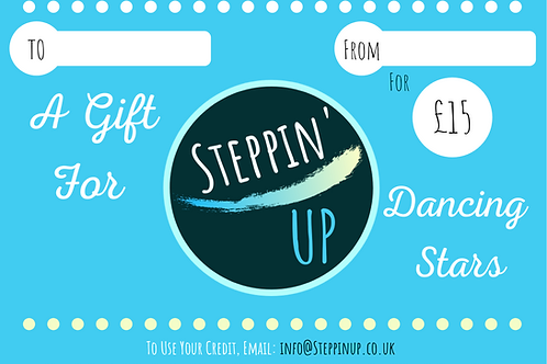 Steppin' UP Gift Card £15