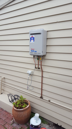 Install new hot water systems