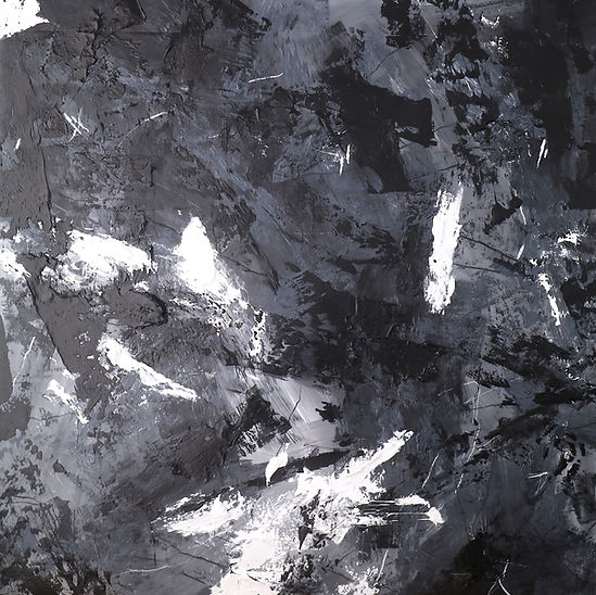 Reflection from the past, 150x150cm, Mixed media on canvas, Energy Series, 2021 Ewa Matyja