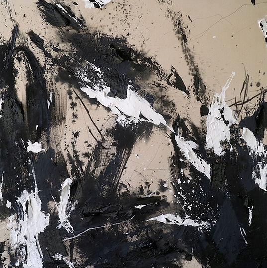 _Facing your fear_ 180 x 150 cm, mixed media on canvas, Energy Series, 2021 Ewa Matyja cop