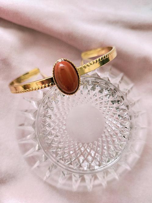 Armband met rode Jaspis