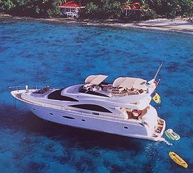 CH.14-1 Aerial yacht w deep blue wter an