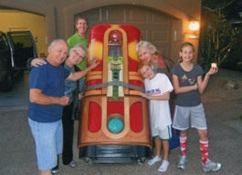Refurbished Jukebox and Happy Family