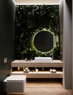 Потрясающая ванная с живой стеной