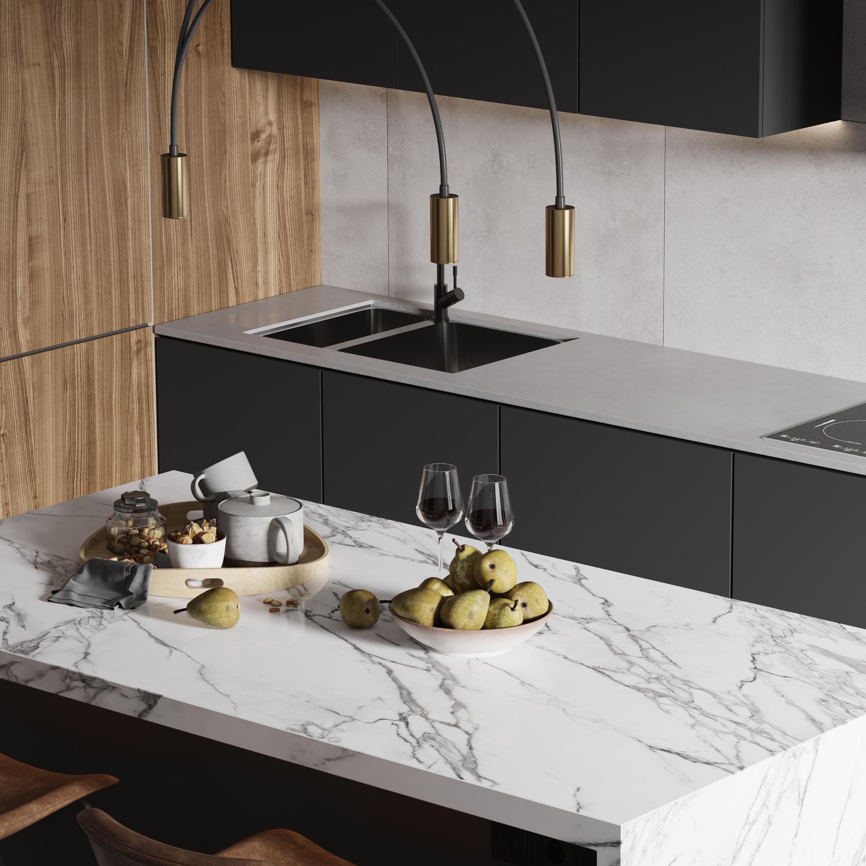 Кухня-столовая. Зона кухонного остро