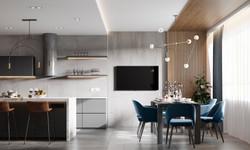 Кухня-столовая. Зона столовой