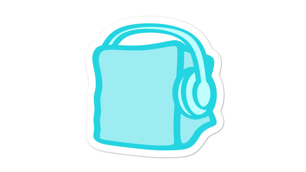Chip Ice Blue Cube Bubble-free stickers