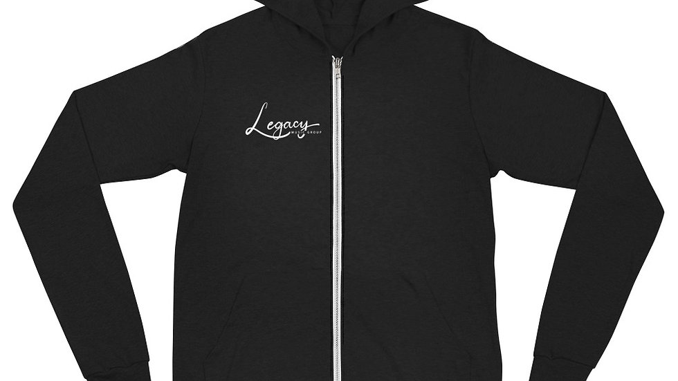 Legacy Music Group Unisex zip hoodie